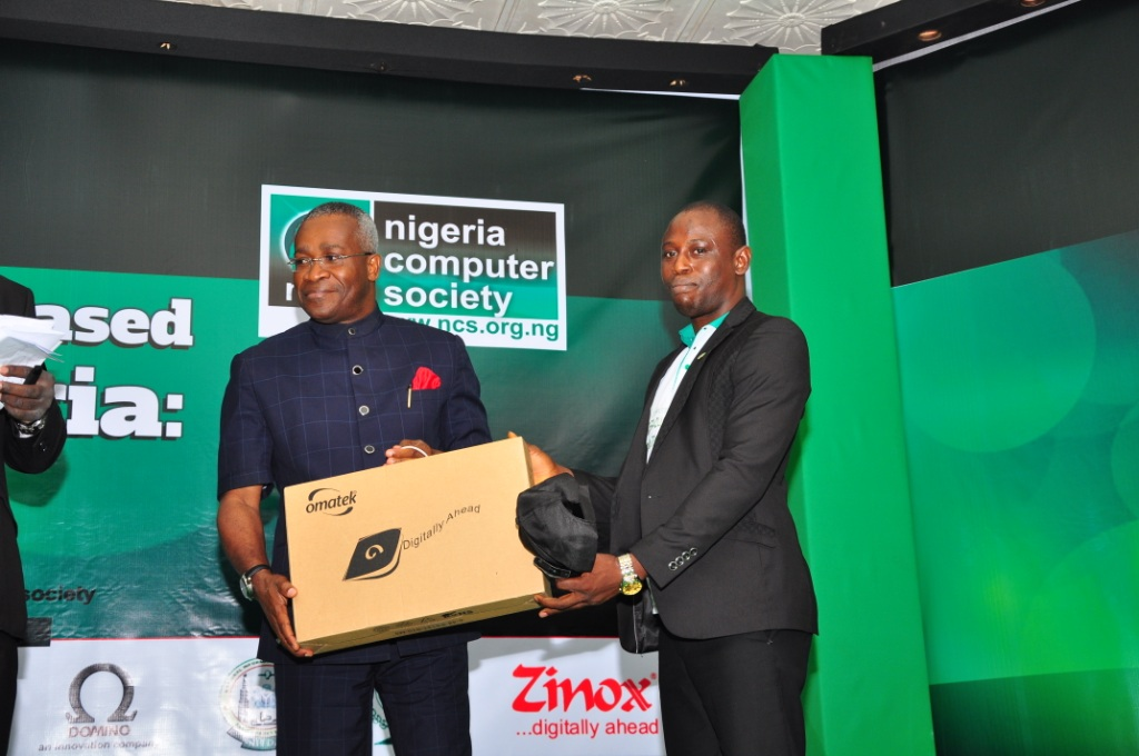 Winner: Olatunji Odegbami National IT Competition for Tertiary Institutions - Ugwegbulam Chidiebere of Alvan Ikoku College of Education, Owerri