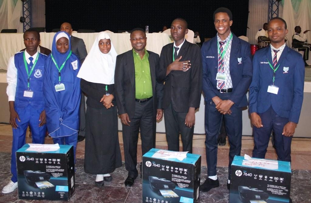 Winners of IT Whiz-Kids 2017: 1st - Pen Resources Academy, Gombe State; 2nd - The Ambassadors College, Ogun State; 3rd - Gombe High School, Gombe State