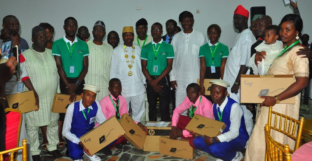 Winners at the IT Whizkids Competition 2016. Winner: Gombe High School, Gombe